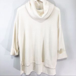 Liz Claiborne Cowl Neck hi Low Sweater Size M
